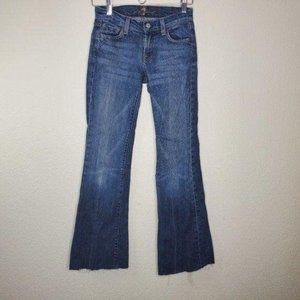 7FAM 7 For All Mankind Classic Wash Flare Jeans